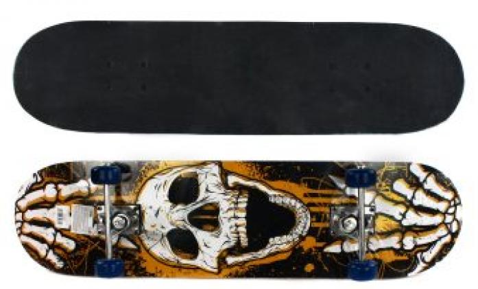 Скейтборд Shantou Gepai Skull 79х20 см 635081