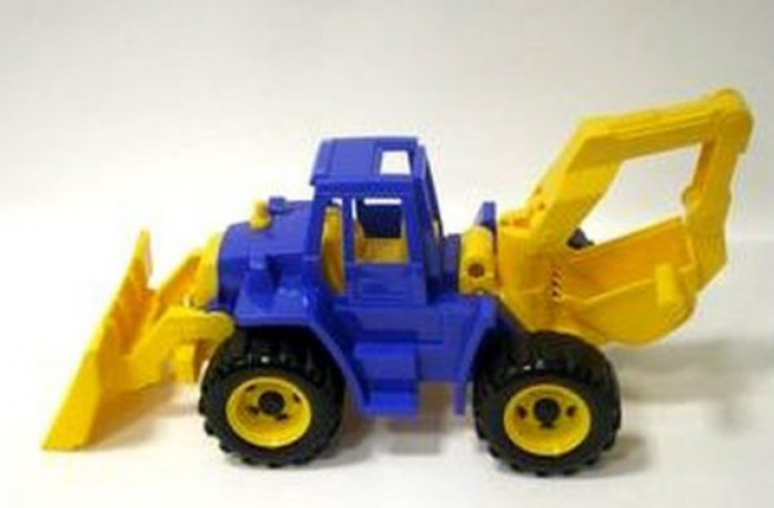 Игрушка Нордпласт Трактор Ангара с грейдером и ковшом 141