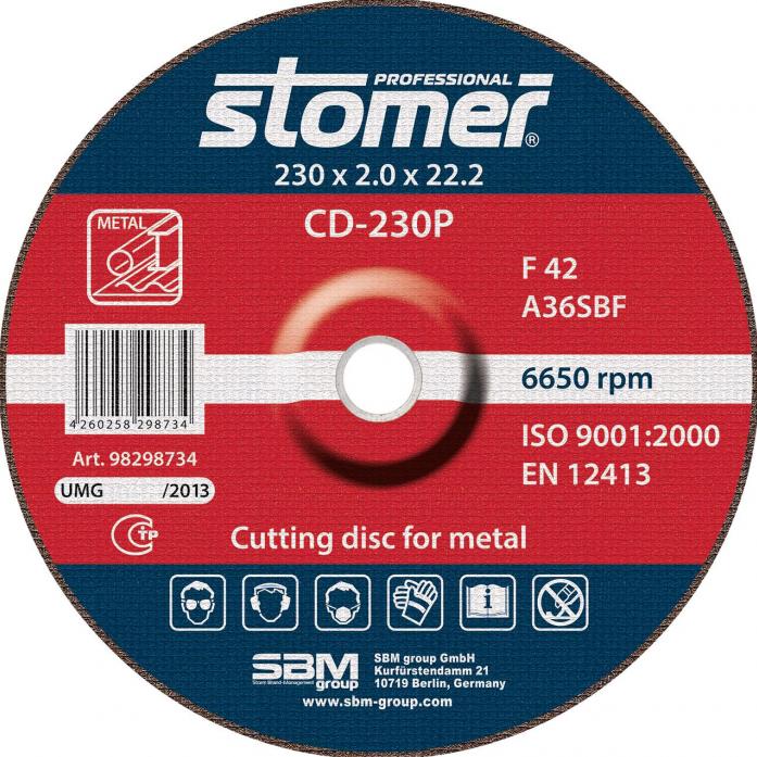 Диск отрезной STOMER CD-230P 98298734