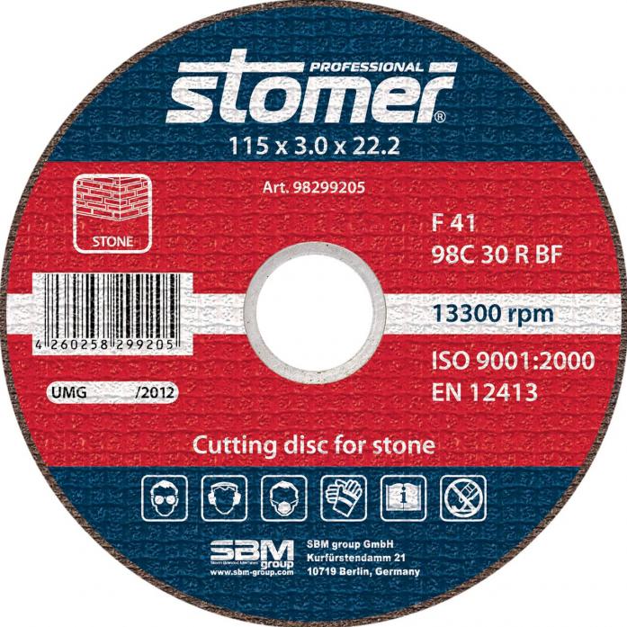 Диск отрезной STOMER CS-115 98299205