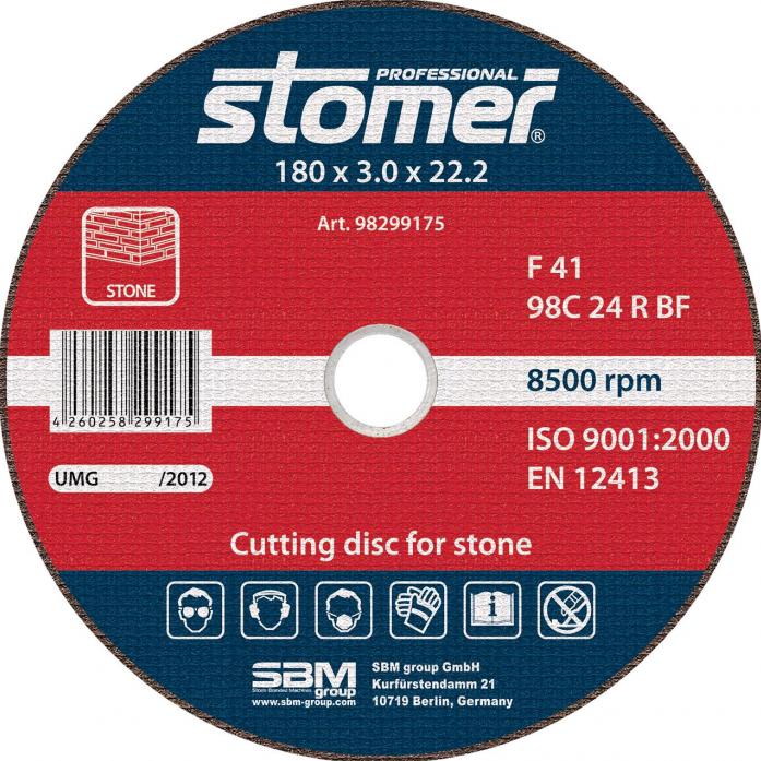 Диск отрезной STOMER CS-180 98299175