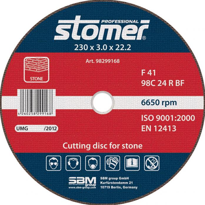 Диск отрезной STOMER CS-230 98299168