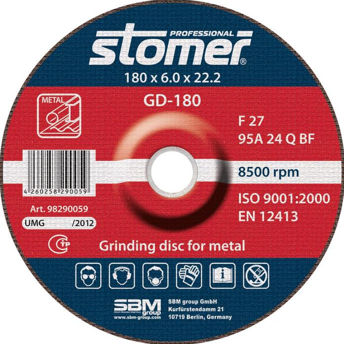 Диск шлифовальный STOMER GD-180 98290059