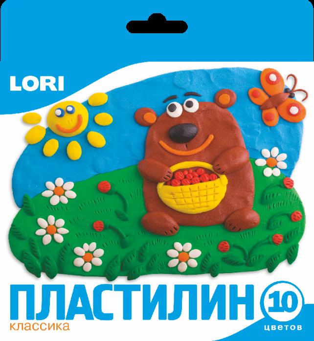 Пластилин Lori Классика 10 цветов Пл-002