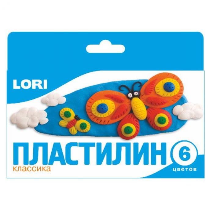 Пластилин Lori Классика 6 цветов Пл-001
