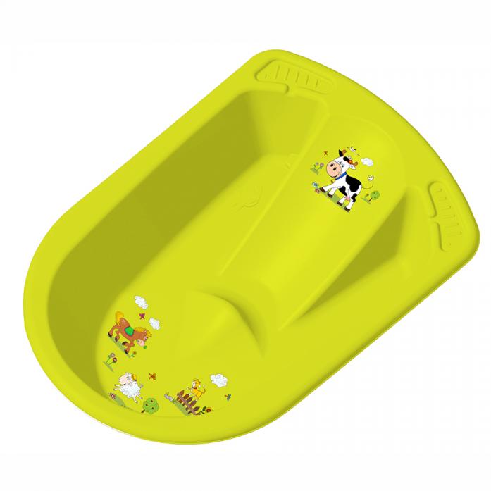 Ванночка детская ОКТ Веселая ферма анатомическая зеленая8719/274