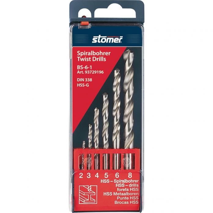 Набор сверл по металлу STOMER BS-6-1 93729196