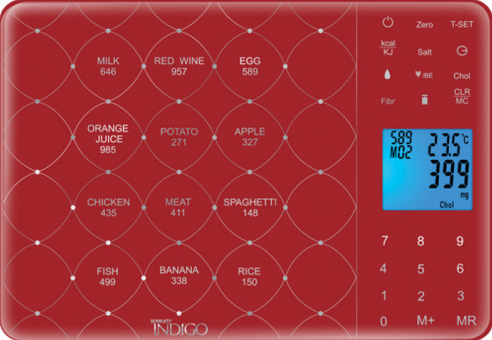 Кухонные весы Scarlett IS-565 (red)
