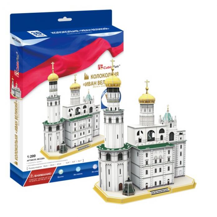 3D-пазл CubicFun Колокольня Ивана Великого (Россия) MC220h