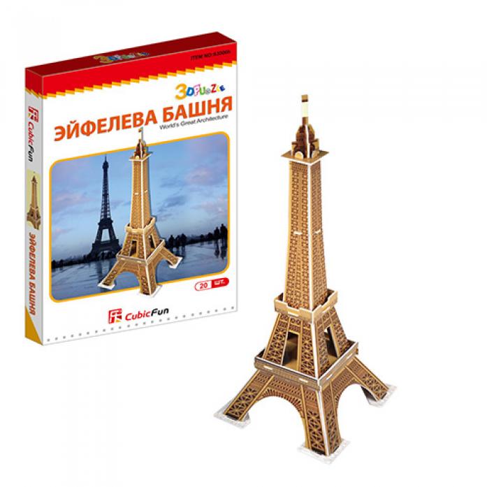 3D-пазл CubicFun Эйфелева башня (Франция)(мини серия)S3006