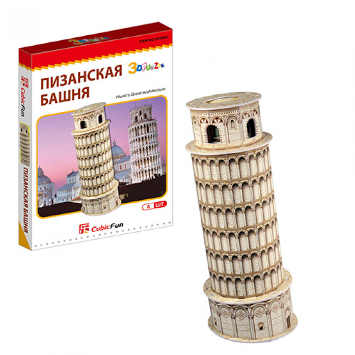 3D-пазл CubicFun Пизанская башня (Италия)(мини серия) S3008