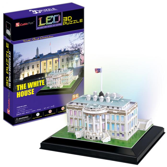 3D-пазл CubicFun Белый дом с иллюминацией (США) L504h