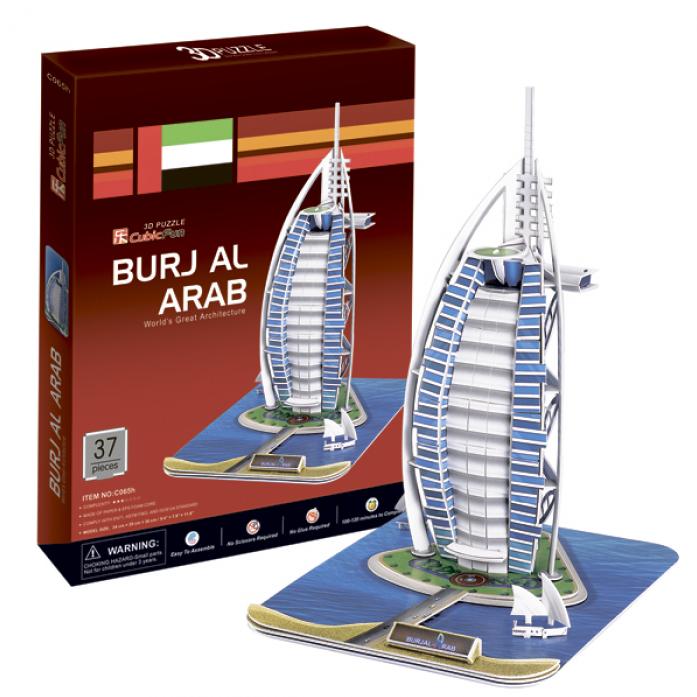 3D-пазл CubicFun Отель Бурж эль Араб (ОАЭ) C065h
