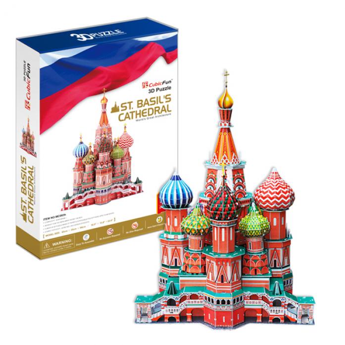 3D-пазл CubicFun Собор Василия Блаженного (Россия)MC093h