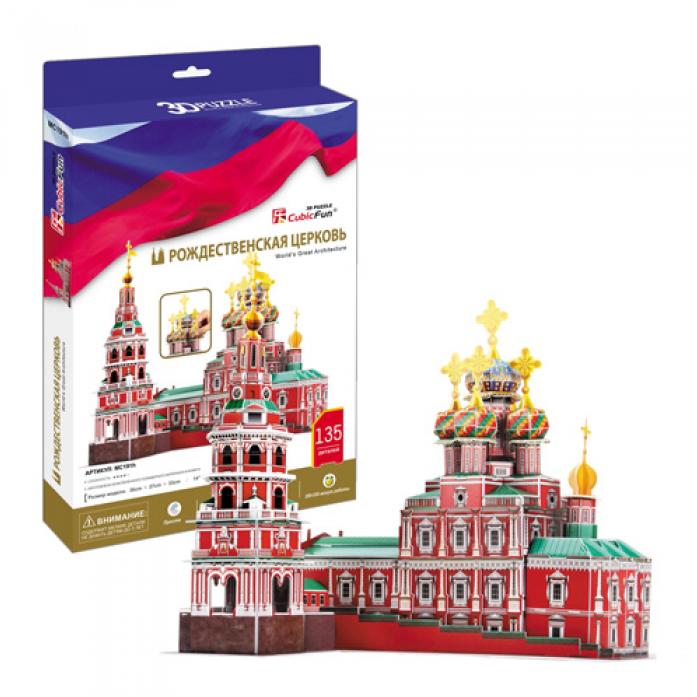 3D-пазл CubicFun Рождественская церковь (Россия) MC191h