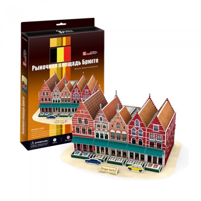 3D-пазл CubicFun Рыночная площадь Брюгге (Бельгия)C182h