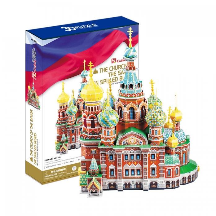 3D-пазл CubicFun Собор Воскресения Христова (Россия) MC148h