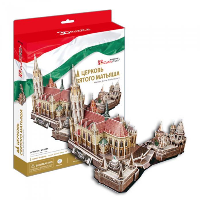 3D-пазл CubicFun Церковь Святого Матьяша (Венгрия)MC128h