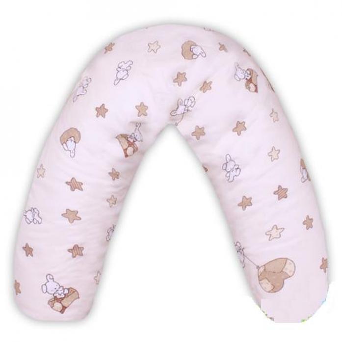 Подушка для будущих и кормящих мам Мотылек 130*30 бежевый 130I