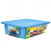 Пластик Репаблик X-BOX Sity Cars 30л на колёсах 1024LA-BS