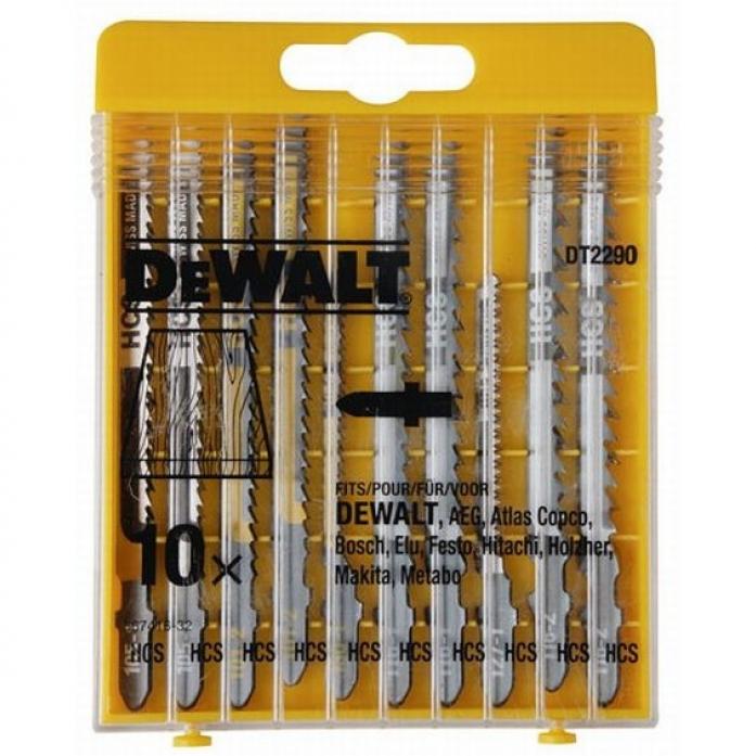 Пилки для лобзика по дереву DeWalt 10шт DT 2290