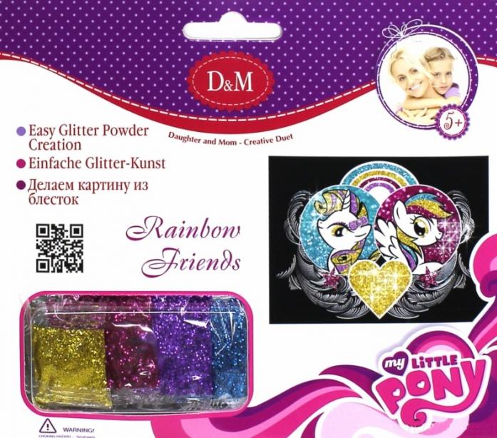 Картинка из блесток Делай с мамой Радужные друзья My Little Pony 57934