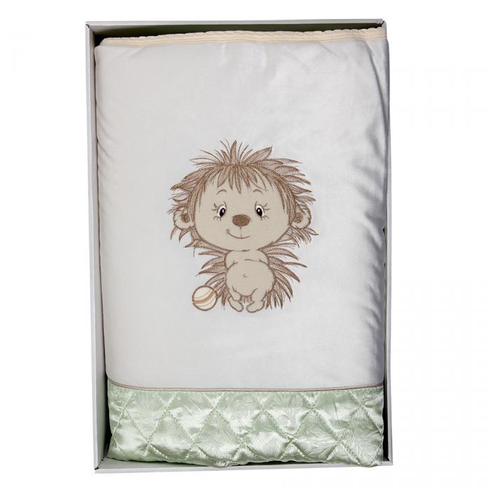 Плед-одеяло Балу Ежик Васютка зеленый ш615