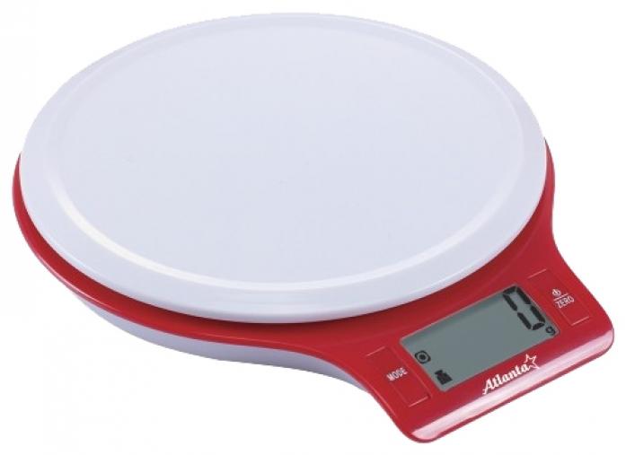 Кухонные весы ATLANTA ATH-6206 красный