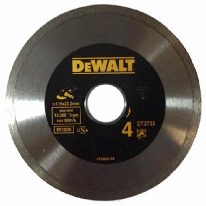 Диск алмазный DeWalt ф115х22.2х1.6мм DT 3735