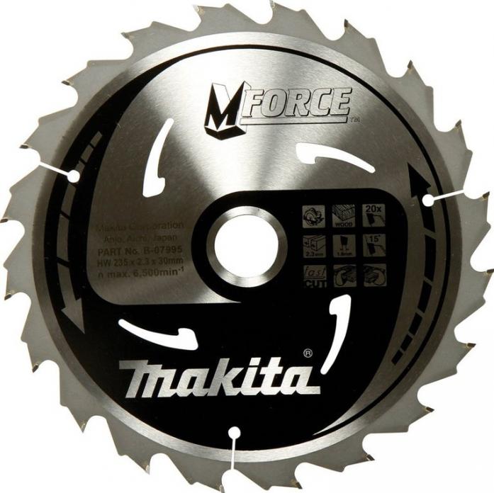 Диск пильный Makita M-Force ф235х30х2.3мм 20зуб B-31382