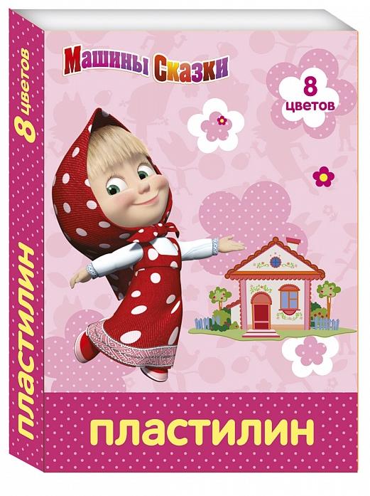 Пластилин Росмэн Маша и Медведь 8 цветов 29595