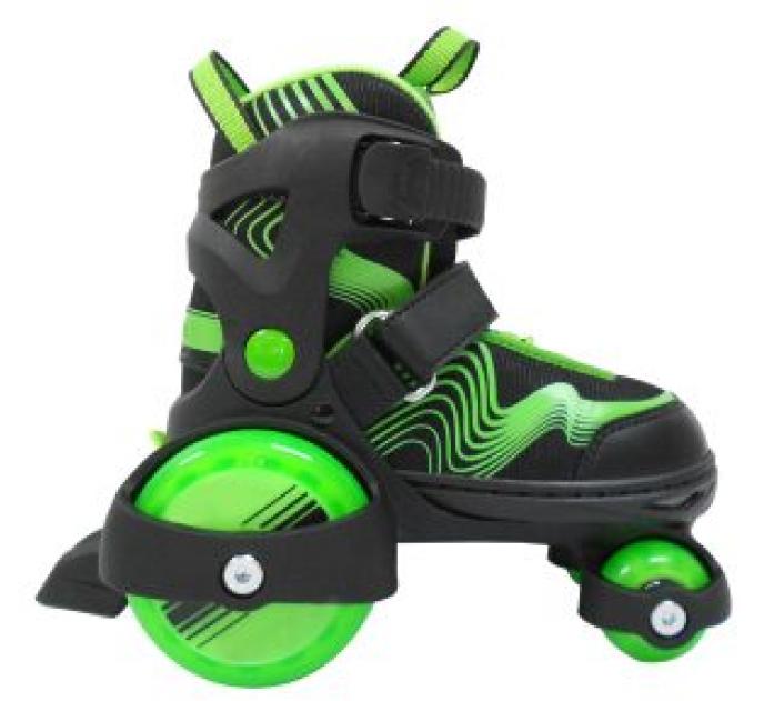 Роликовые коньки-квады Moby Kids зеленые р. 30-33 64620