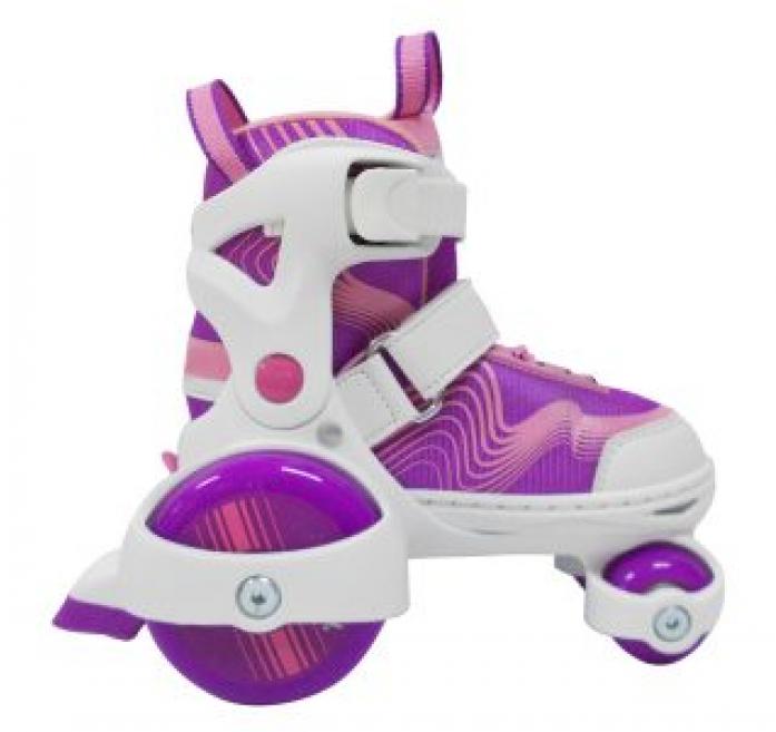 Роликовые коньки-квады Moby Kids фиолетовые р. 30-33 64618