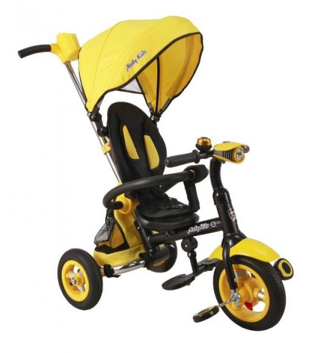 Велосипед трехколесный Moby Kids Junior-2 желтый T300-2Uni