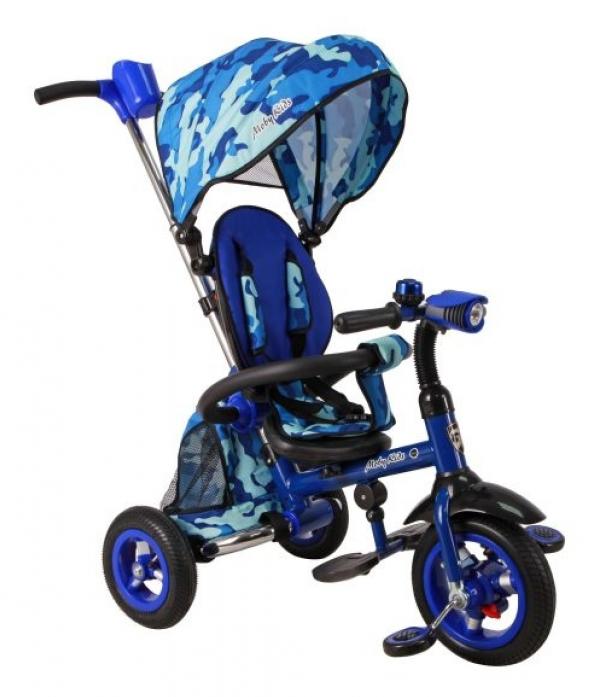 Велосипед трехколесный Moby Kids Junior-2 синий T300-2Army