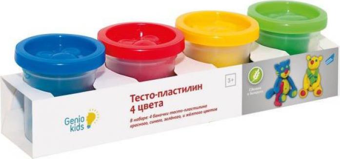 Тесто-пластилин Genio Kids 4 цвета TA1010
