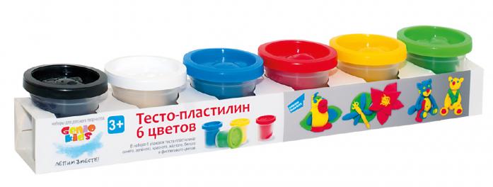 Тесто-пластилин Genio Kids 6 цветовTA1009