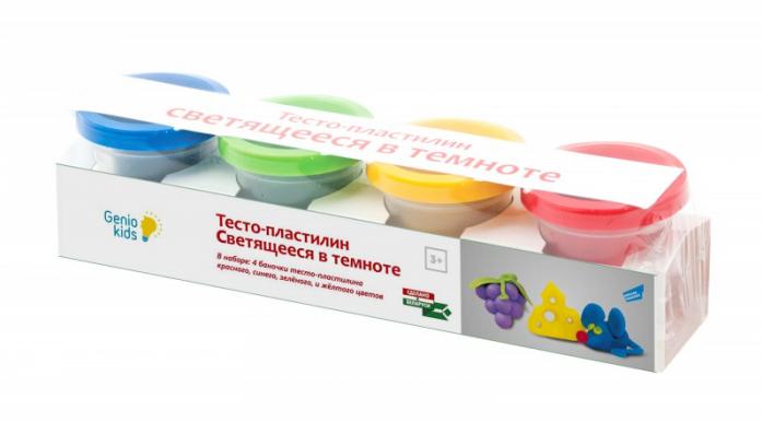Тесто-пластилин Genio Kids Светящееся в темноте TA1021