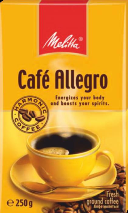 Кофе Melitta Allegro жареный молотый (00285), 250гр