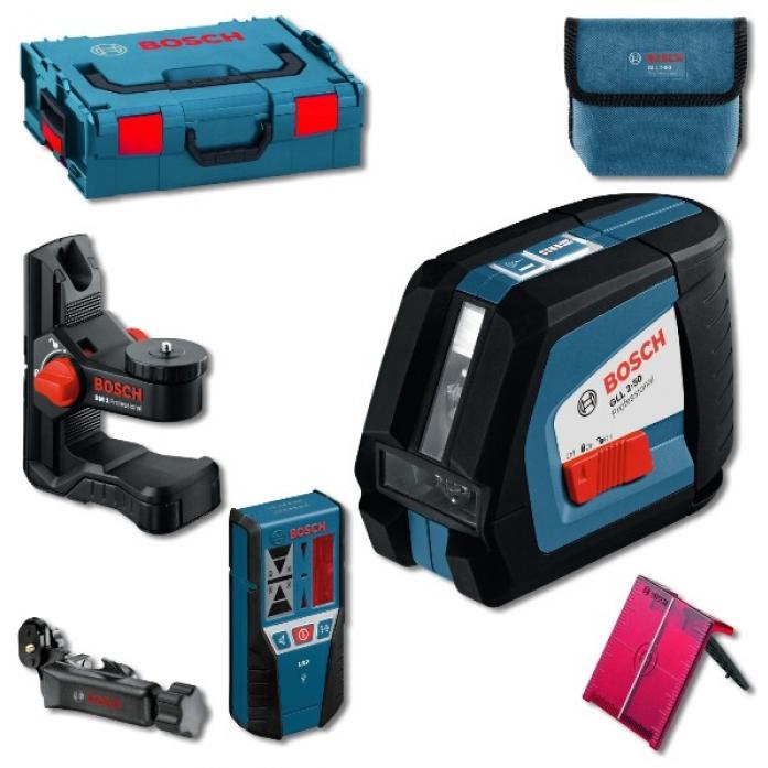 Лазерный нивелир Bosch GLL 2-50 + BM1 + LR2 в L-Boxx (0601063109)