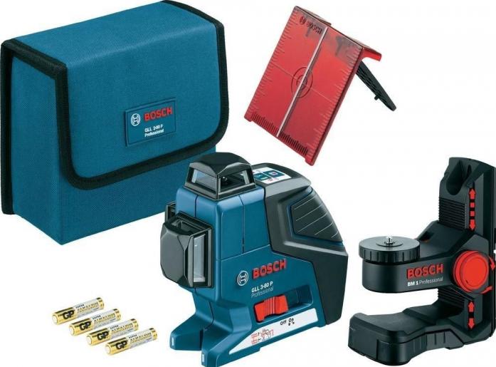 Лазерный нивелир Bosch GLL 3-80 P + вкладка под L-Boxx (0601063305)