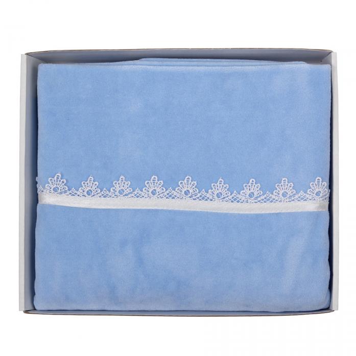 Плед Балу велюровый голубой ш600/1*