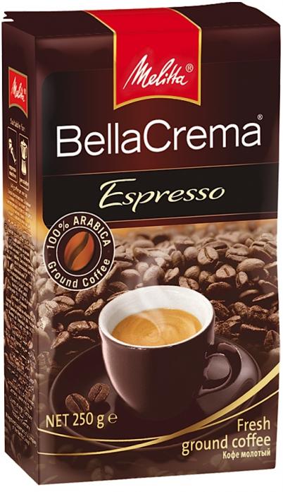 Кофе Melitta BellaCrema Cafe Espresso жареный в зернах (00820) 200гр
