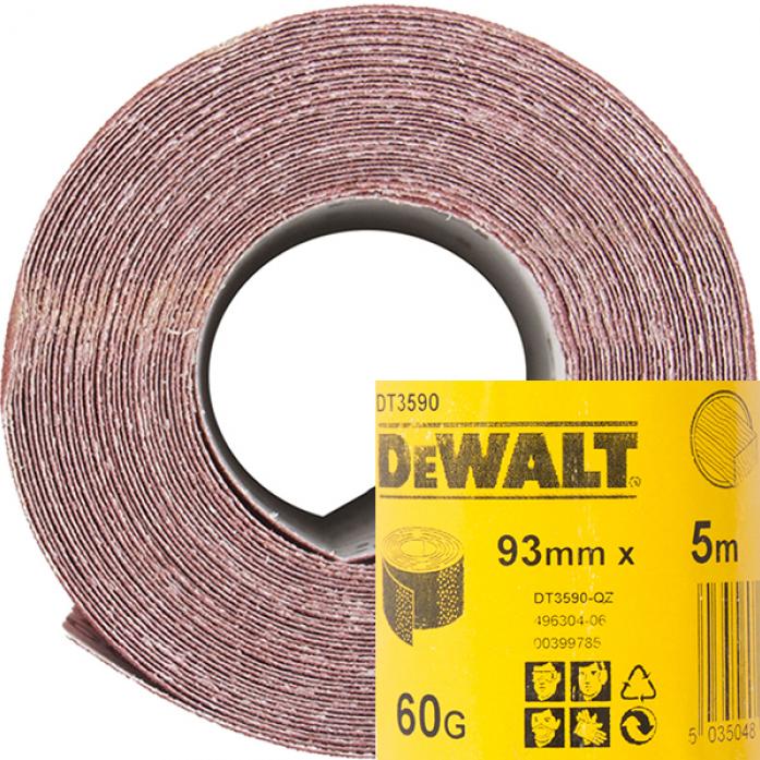 Шлифлист в рулонах DeWalt 93ммх5м К60 DT 3590
