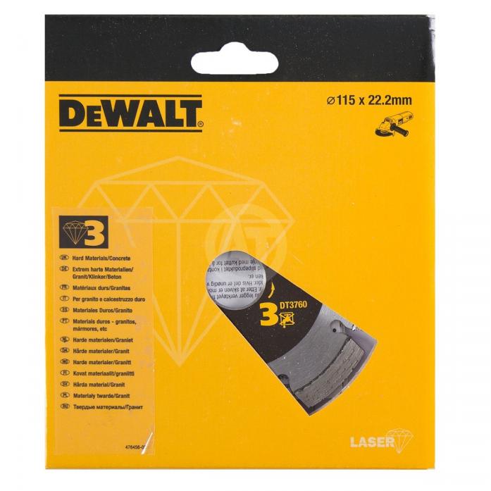 Диск алмазный DeWalt ф115х22.2х2мм DT 3760