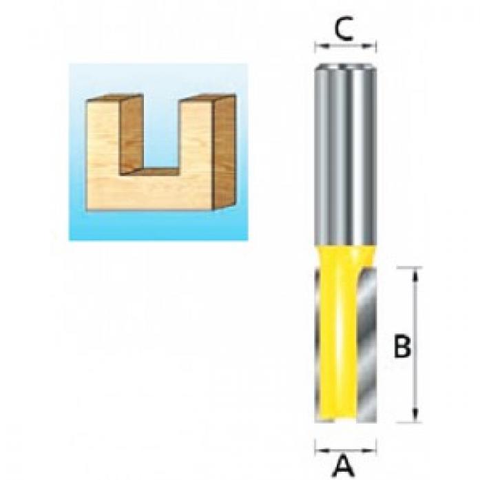 Фреза пазовая твердосплавная (24х20 мм; 2 лезвия; хвостовик 8 мм) Makita D-10366
