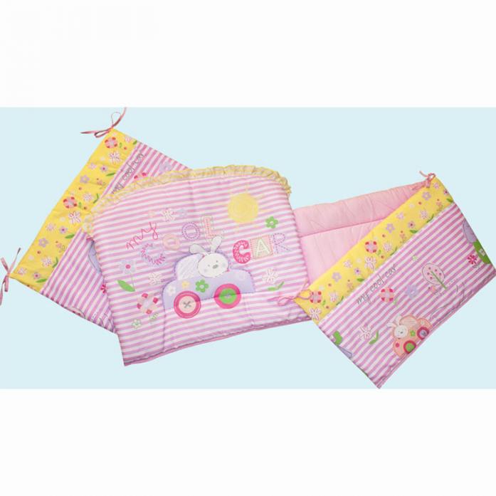 Бампер для кроватки Золотой Гусь Cool Car 3946 розовый