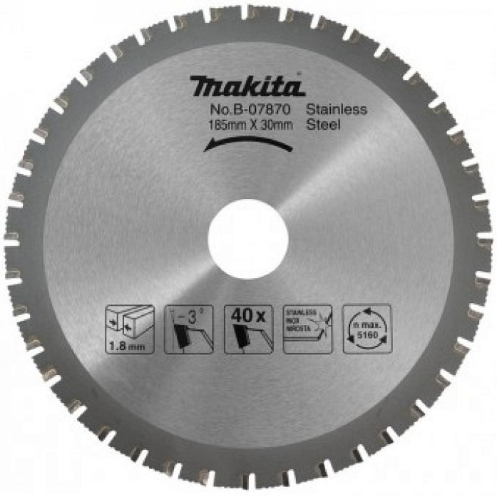 Диск пильный Makita 185х30х1,8мм 64Т B-34154