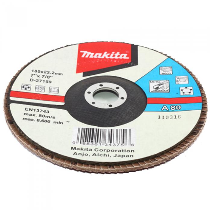 Диск шлифовальный универсальный Makita 180х22мм К80 D-27159
