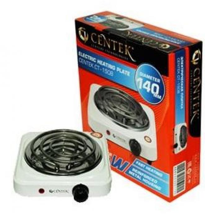 Настольная плита Centek CT-1508 (белая) 1конфорка